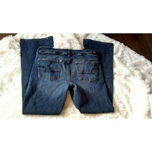 American eagle kick boot denim jeans size 12
